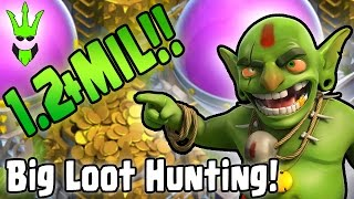 1.2 MILLION LOOT!!! - BIG LOOT HUNTING - Clash of Clans - TH10 LaLoonion for Big Gains!