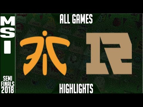 FNC vs RNG Highlights ALL GAMES Semi Finals | MSI 2018 Semifinals | Fnatic vs Royal Never Give Up