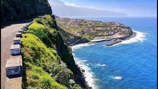 A roadside video of the portuguese island madeira.madeira road trip around island.