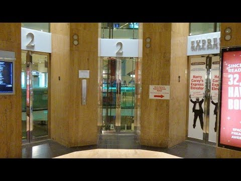 Awesome & Fast Otis Traction Glass Elevators at Water Tower Place Mall in Chicago, IL.