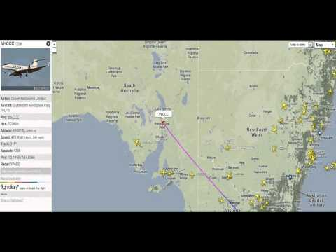Crown Casino Melbourne, Gulfstream Private Jet flying above South Australia - FlightRadar24-