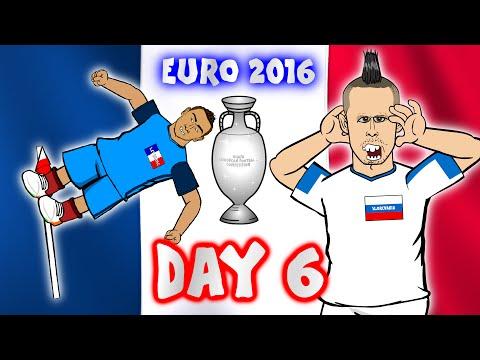 Russia vs Slovakia! France vs Albania! Romania vs Switzerland! (Day 6 Euro 16 highlights)