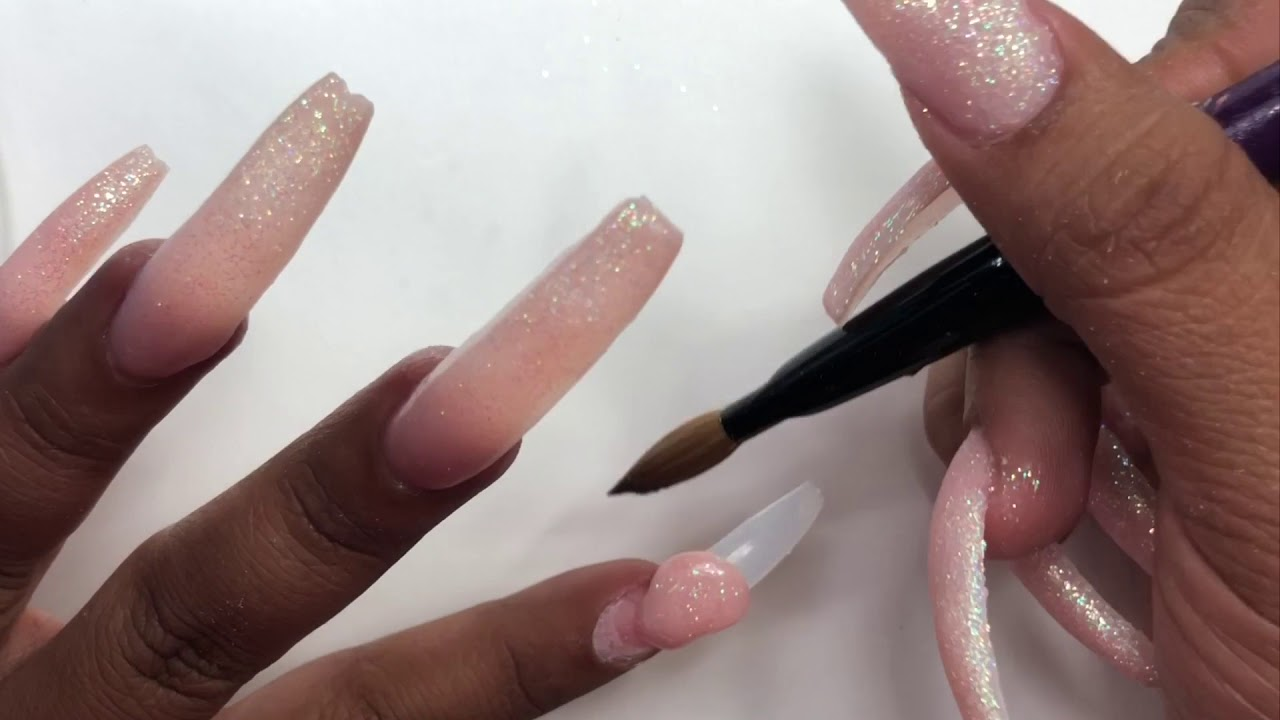 Watch Me Apply Acrylic To My Nails | Nail Classes - YouTube