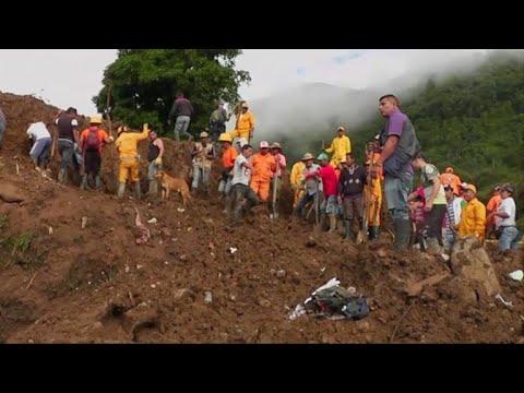 afpes: Sube el numero de muertos por deslave en suroeste de Colombia
