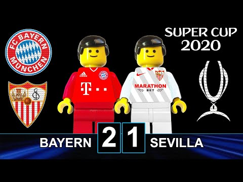 Uefa Super Cup 2020 • Bayern Vs Sevilla 2-1 🏆 In Lego • All Goals Highlights Lego Football Film