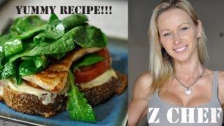 Turkey Sandwich With Spicy Arugula Salad Recipe By Zuzka Light