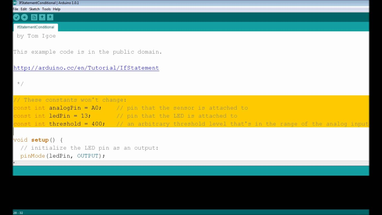 Lesson if statement conditionals arduino course for