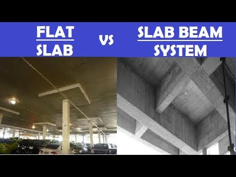 Difference Between Flat Slab Amp Conventional Slab Youtube