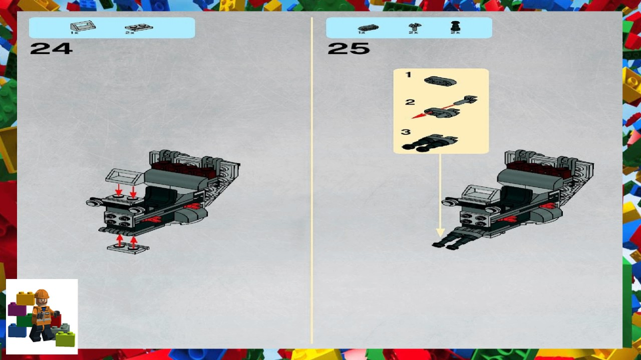 Lego Instructions Star Wars 8038 The Battle Of Endor Book 1