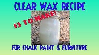 DIY لينة واضحة الشمع وصفة الطباشير الطلاء هاك! 2 المكونات 3 دولار لجعل! Chalkpaint والأثاث
