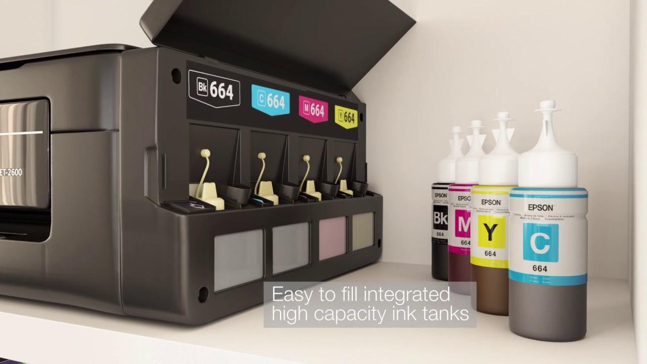 Epson Wireless Inkjet All-in-One Printer | ET-2600 | Euronics Ireland