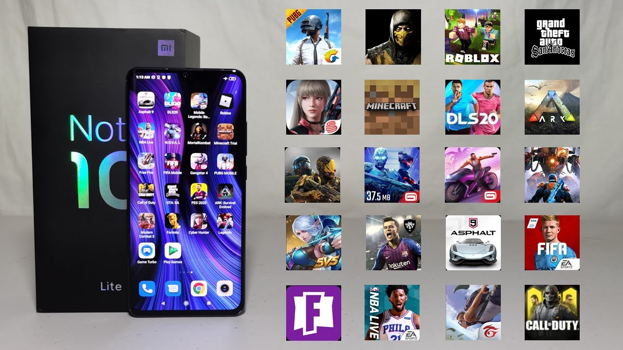 Gaming Test: Xiaomi Mi Note 10 Lite   Fornite   PUBG   COD   Free Fire   TheAgusCTS
