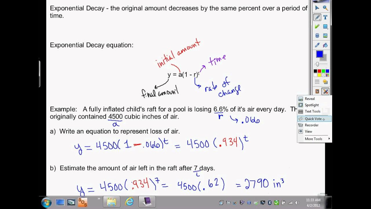 Algebra - Exponential Growth And Decay And Geometric Sequences.Avi