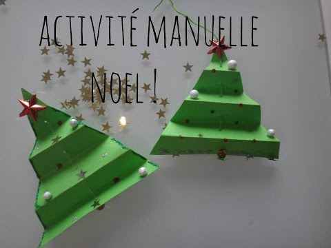 tutoriel activit manuelle enfants sapins de no l avec doovi. Black Bedroom Furniture Sets. Home Design Ideas