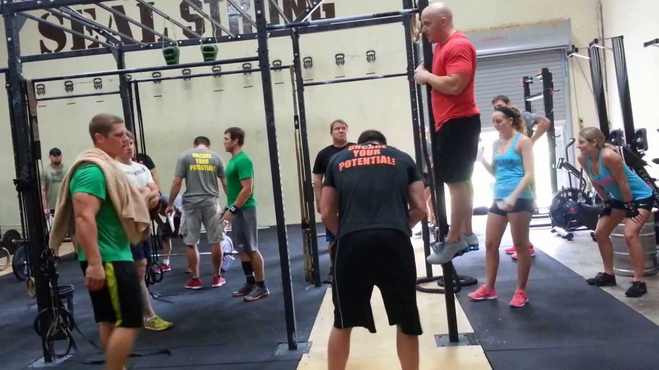 Caged CrossFit In-House Competition WOD 1 Mens RX Fran ...