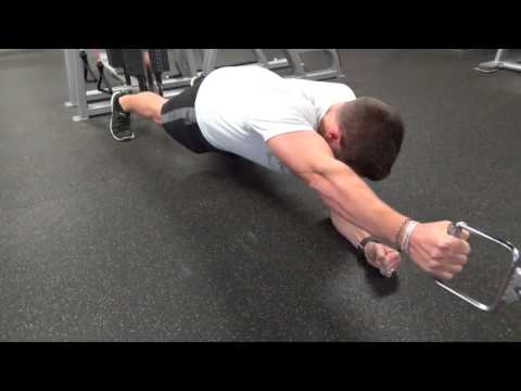 Attack Abs & Back Simultaneously - Plank Cable Row