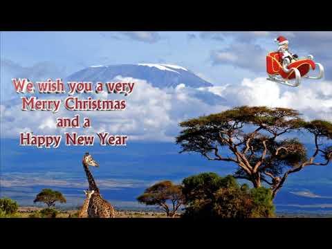 Christmas Card Santa in Africa We wish