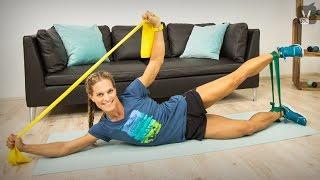 Körperspannung trainieren und Körper straffen - Fitness Workout mit Corinna Frey