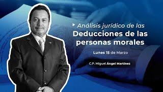 Cadefi - Análisis Jurídico De Las Deducciones De Las Personas Morales - 15 Marzo