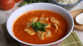 Hot and Sour Tomato Soup With Fish [酸辣番茄鱼]