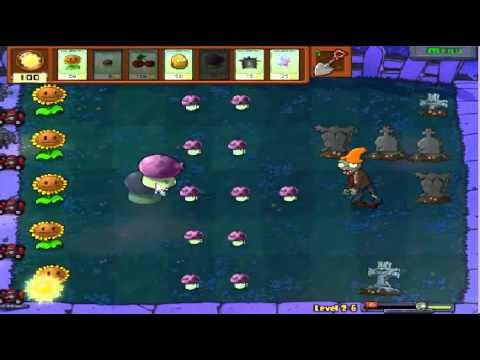 Plants vs zombies (Trồng cây bắn zombie) - Cấp độ 2-6 (Game Việt Hóa)