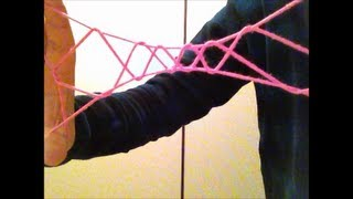 6 Step Jacobs Ladder 6段ばしご Cat's Cradle あやとり How To Do / Easy String Figure Trick