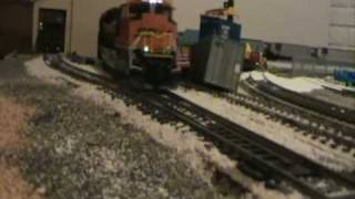 Burlington Northern Santa Fe Sd70ace Hauls Coal Unit Train On Schul4's Layout