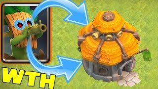 "DART GobLIN HUT THING SHOOTS BACK!?! ""Clash Of Clans"" WHO IS INSIDE!?!"