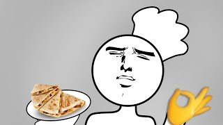 How to make a (VERY FAT FOOD PRODUC-) Lunch meat quesadilla!