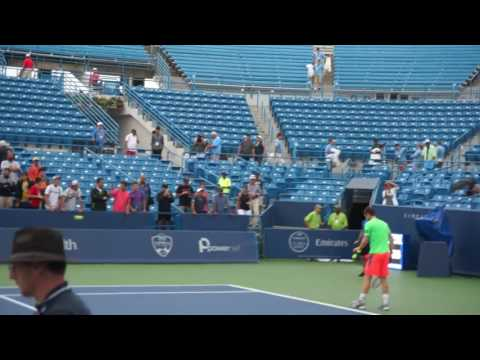 Andy Murray Serve Practice cincinnati masters 2016