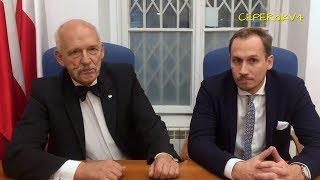 Marsz Niepodległości 2018 zakazany w Warszawie - Janusz Korwin-Mikke i Konrad Berkowicz