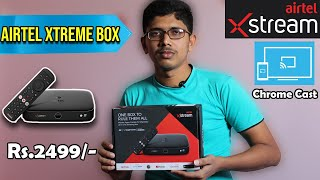 Airtel Xtreme Box - Unboxing ( 2021 )   Normal TV to Android TV   Chromecast   In Tamil   Gaming