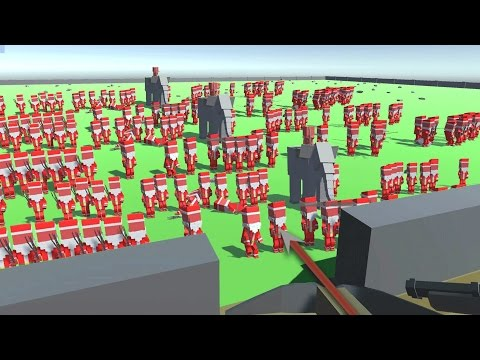 EPIC Castle Siege Defense, Santa ATTACKS - Ancient Warfare 2