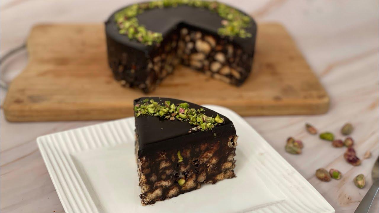 No Bake Chocolate Biscuit Cake #shorts