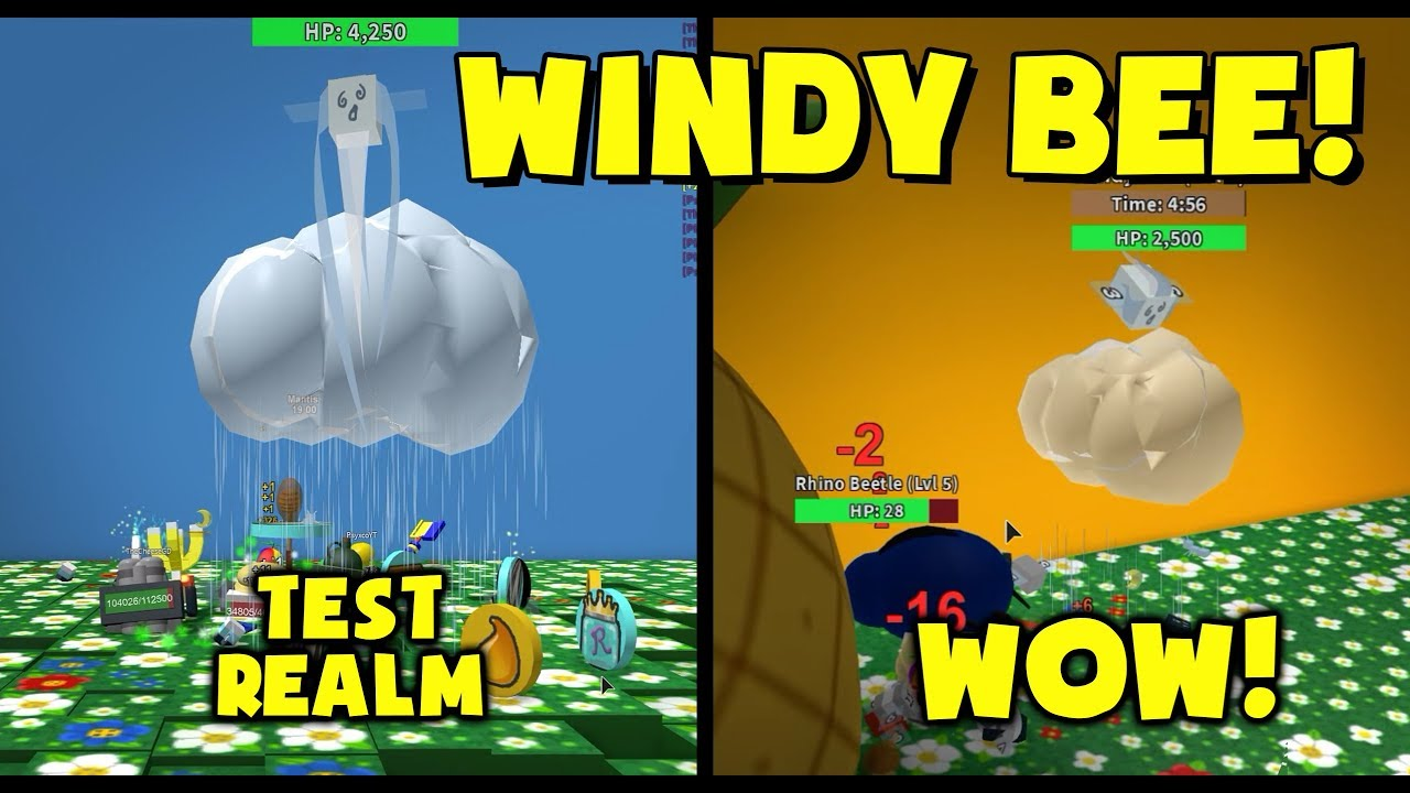 Windy Bee Test Realm Bee Swarm Simulator Youtube