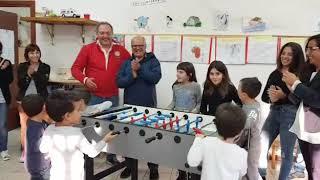 """Un biliardino per la scuola """"Giovanni Paolo II"""" di Monsampietro Morico"""