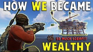 CONQUERING the NEW LARGE OIL RIG on WIPE DAY || RUST