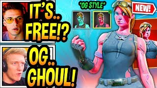 """STREAMERS REACT TO *NEW* """"OG"""" GHOUL TROOPER (STYLE) In Fortnite! *GLOWING* Fortnite Moments"""