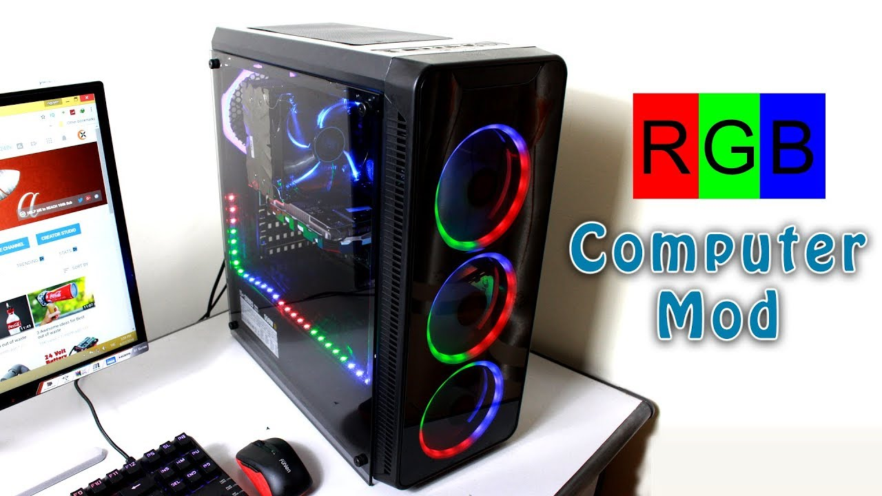 Case Pc How To Turn Any Pc To Rgb Led Pc Pc Case Modding