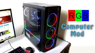 How to Turn Any PC to RGB LED PC | PC Case Modding
