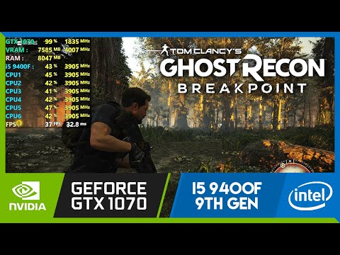 Ghost Recon Breakpoint (Vulkan) | Ultra Graphics | GTX 1070 + i5 9400F | PC Gameplay Benchmark |