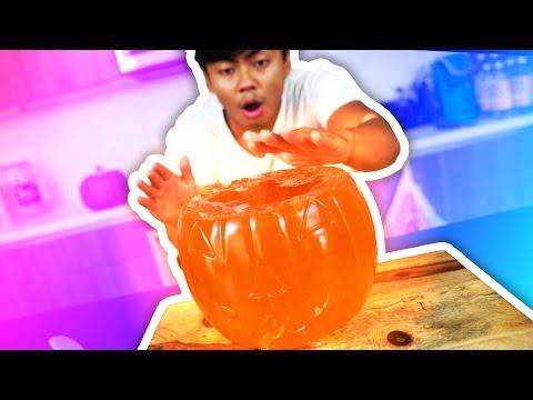 DIY How To Make GLOW IN THE DARK JELLO PUMPKIN!
