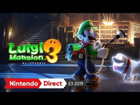 ルイージマンション3:E3 2019 出展映像
