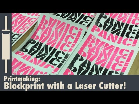 Making a Block Print with a Laser Cutter
