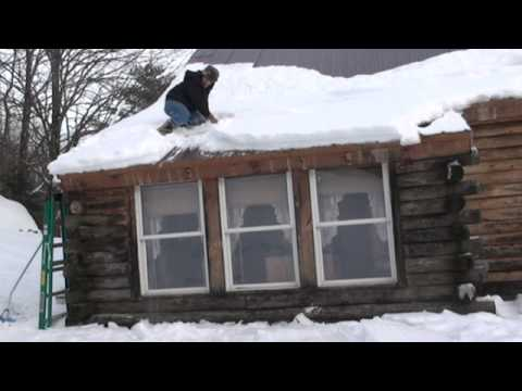 Getting Snow And Ice Off Roof Youtube