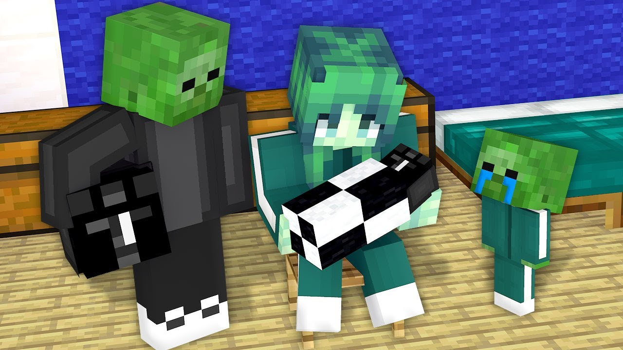 Monster School: NEW BABY SQUID GAME ZOMBIE FAMILY STORY BIRTH BLACK MASK MAN - Minecraft Animation