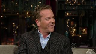 Kiefer Sutherland on Late Show with David Letterman (HD) Part 1