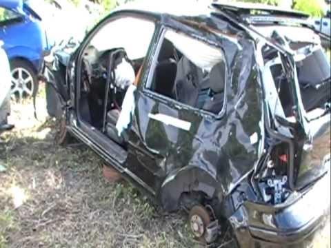 Destroyed Rollover: 2004 VW Golf GTi GLX VR6 2.8L 24-Valve 6-speed