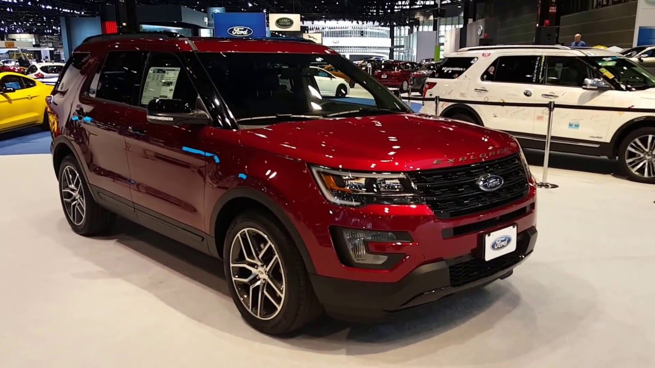 2016 ford explorer sport exterior 2016 chicago auto show youtube. Black Bedroom Furniture Sets. Home Design Ideas
