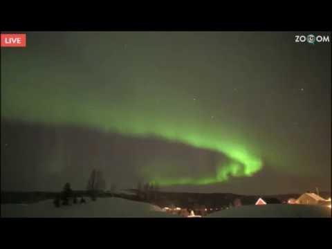 Aurora Borealis live cam from Norway / Senja,01.03.2017